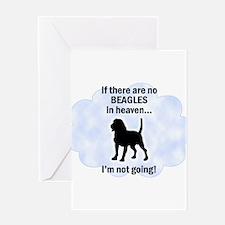 Beagles In Heaven Greeting Card