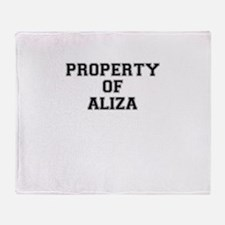 Property of ALIZA Throw Blanket