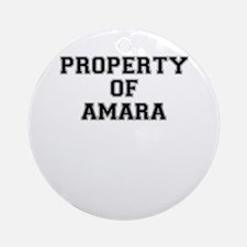 Property of AMARA Round Ornament