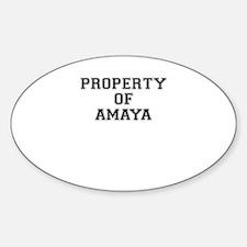 Property of AMAYA Decal