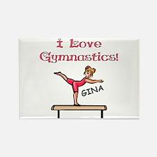 I Love Gymnastics (Gina) Rectangle Magnet
