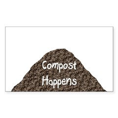 Compost Happens Rectangle Decal