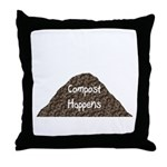 Compost Happens Throw Pillow