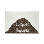 Compost Happens Rectangle Magnet (10 pack)