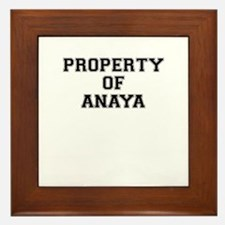 Property of ANAYA Framed Tile