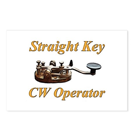 Straight Key CW Operator Postcards (Package of 8)