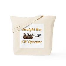 Straight Key CW Operator Tote Bag