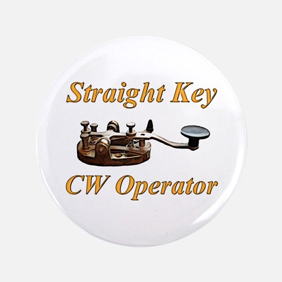 "Straight Key CW Operator 3.5"" Button"