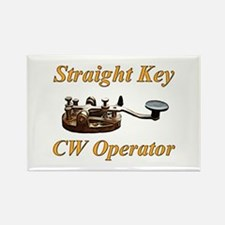 Straight Key CW Operator Rectangle Magnet