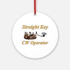 Straight Key CW Operator Ornament (Round)