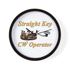 Straight Key CW Operator Wall Clock