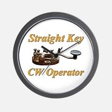 Straight Key CW Operator Wall Clock