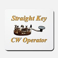 Straight Key CW Operator Mousepad