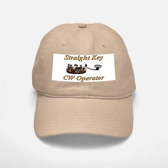 Straight Key CW Operator Baseball Baseball Cap