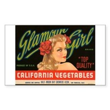 Glamour Girl Rectangle Decal