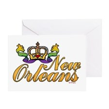 New Orleans Mardi Gras Crown Greeting Card