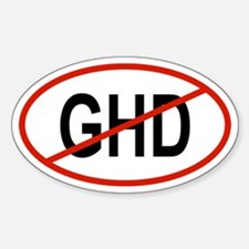 GHD Oval Decal