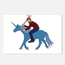 Paul Bunyan Riding Unicor Postcards (Package of 8)
