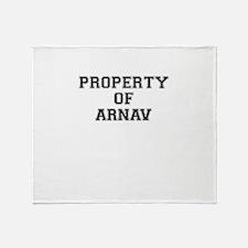 Property of ARNAV Throw Blanket