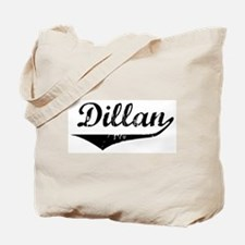 Dillan Vintage (Black) Tote Bag