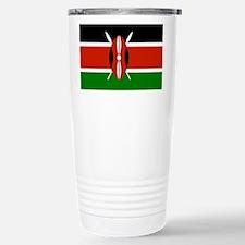 Kenyan Flag Stainless Steel Travel Mug