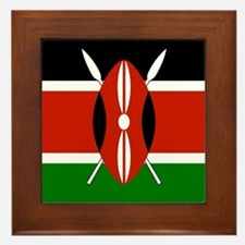 Kenyan Flag Framed Tile