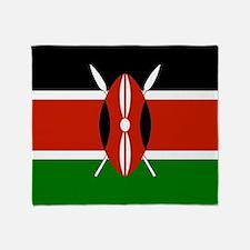 Kenyan Flag Throw Blanket