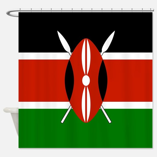 kenyan flag shower curtain