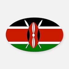 Kenyan Flag Oval Car Magnet