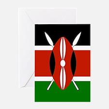 Kenyan Flag Greeting Cards