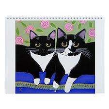 Black White Tuxedo CAT Wall Calendar