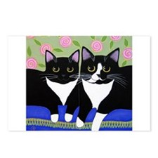 Black White Tuxedo CAT Postcards (Package of 8)
