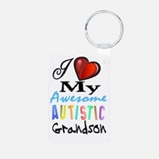 Awesome Grandson Keychains