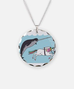 Narwhal Swimming With Unicor Necklace