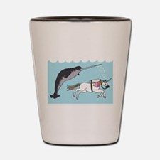 Narwhal Swimming With Unicorn Shot Glass