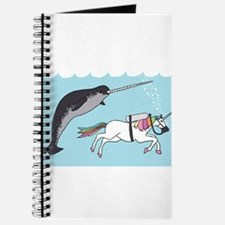 Narwhal Swimming With Unicorn Journal