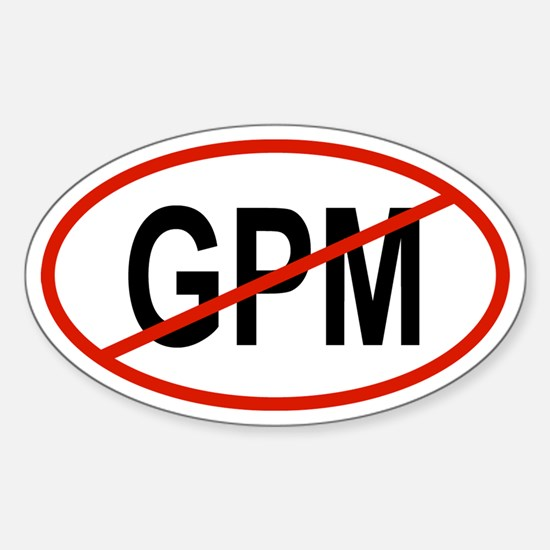 GPM Oval Decal