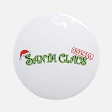 Official Santa Claus Ornament (Round)