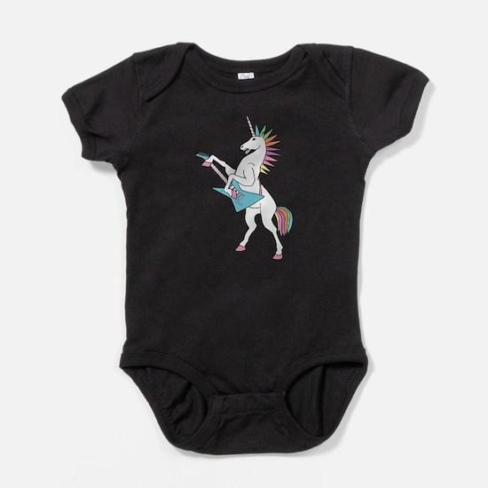 Punk Rock Unicorn Baby Bodysuit