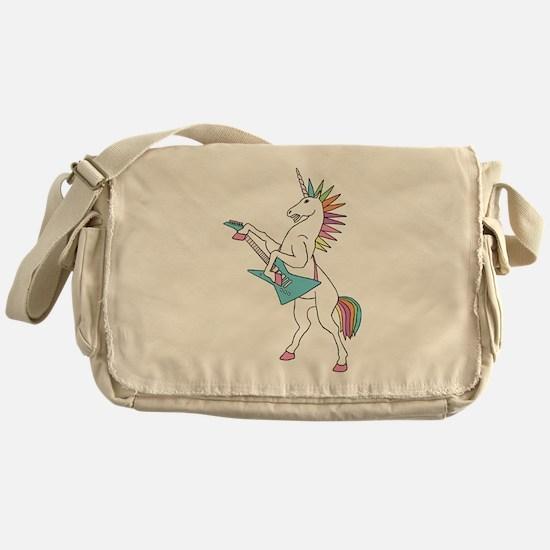 Punk Rock Unicorn Messenger Bag