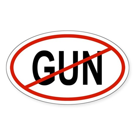 GUN Oval Sticker