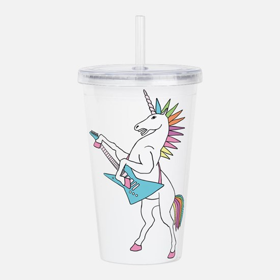 Punk Rock Unicorn Acrylic Double-wall Tumbler