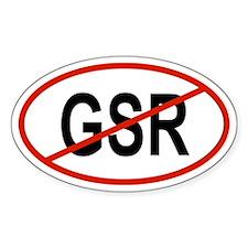 GSR Oval Decal