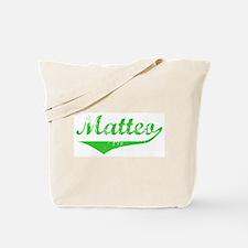 Matteo Vintage (Green) Tote Bag
