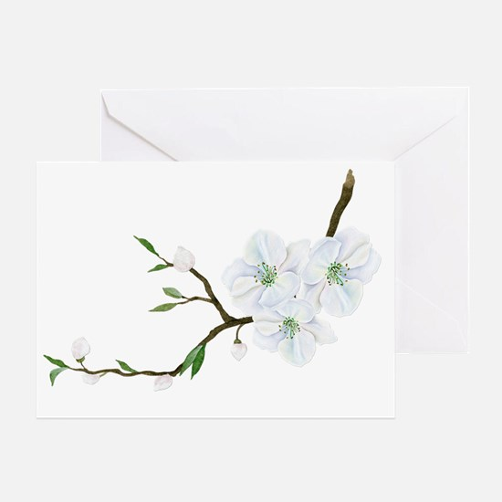Cute Apple blossoms Greeting Card