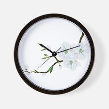 Blooming Twig Wall Clock