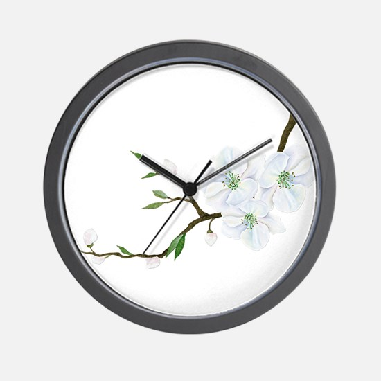 Blooming Twig Wall Clock