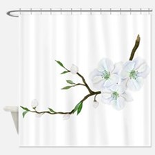 Blooming Twig Shower Curtain