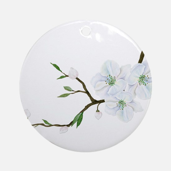 Blooming Twig Round Ornament