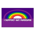 l SUPPORT GAY MARRIAGE Rectangle Sticker